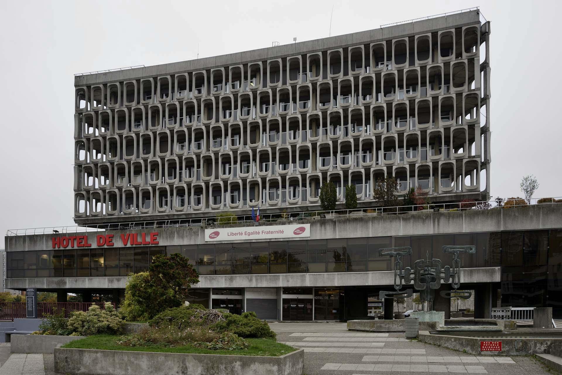 Hotel de Ville, Bobigny - Marius Depont, Michel Holley, 1974