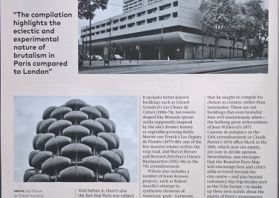 'Brutalist Paris', Crystal Bennes's review of the Brutalist Map of Paris (Photolanguage with Blue Crow Media), Icon Magazine, July 2017.