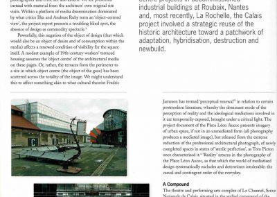 'Not Doing/Over Doing: Omission and Excess', Photolanguage's report on Le Channel, Scène Nationale de Calais by Patrick Bouchain/ Construire, Architectural Design, 2013